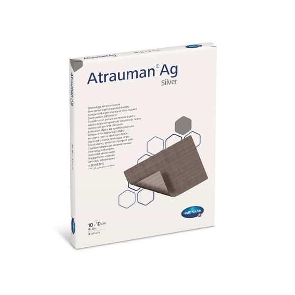 Atrauman®Ag - pansament cu unguent neutru si argint 10x10 cm.