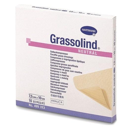 Grassolind® - pansament impregnat cu parafina 10x10 cm.