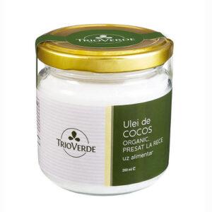 Ulei de cocos alimentar virgin organic - 200 ml.