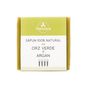 Sapun natural cu orz verde si ulei de argan - 110 gr.