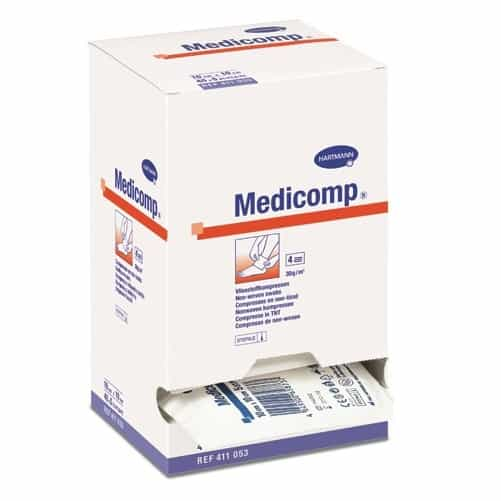 Medicomp® - comprese din material netesut, sterile, 5x5 cm.