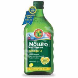 MÖLLER's Cod Liver Oil Omega 3 cu aroma de lamaie - 250 ml