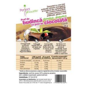 Budinca cu cacao si glucomannan (konjac)