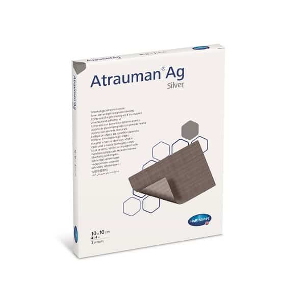 Atrauman®Ag - pansament cu unguent neutru si argint 5x5 cm.