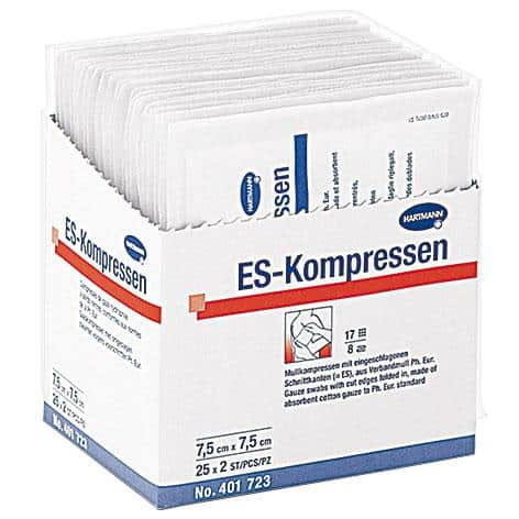 ES-Kompressen® – comprese din tifon 10x10 cm. in 8 straturi
