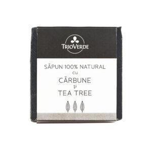 Sapun natural cu carbune si tea tree - 110 gr.