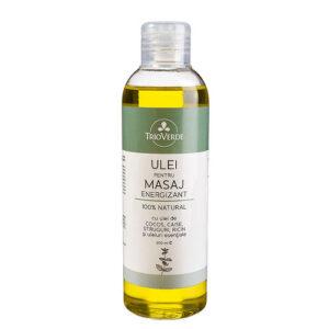 Ulei natural pentru masaj energizant - 200 ml.