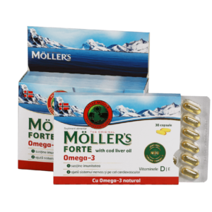 MÖLLER'S Forte Omega 3 with Cod Liver Oil - 150 capsule