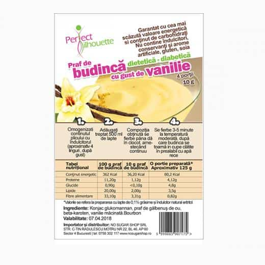 Budinca cu vanilie si glucomannan (konjac)