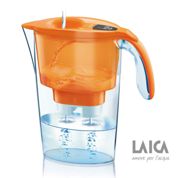 Cana filtranta de apa Laica Stream Orange