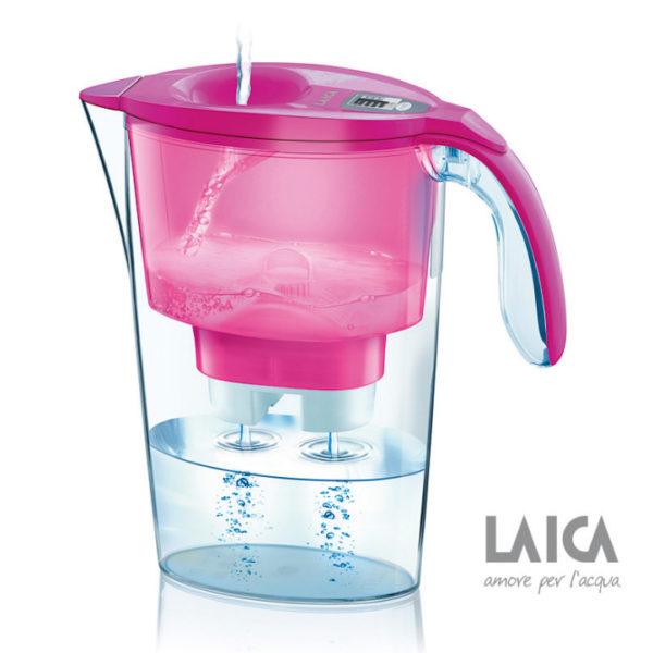 Cana filtranta de apa Laica Stream Pink
