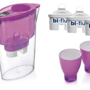 PROMO: Cana Laica Stream Pink + 3 filtre + 2 pahare