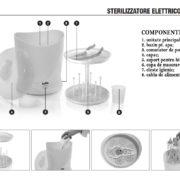Laica - sterilizator pentru biberoane cu aburi