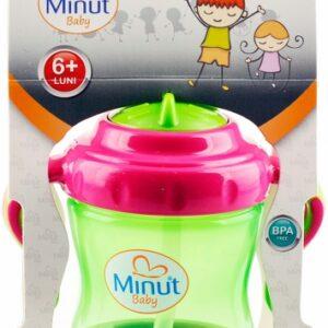 2011015-verdeCanuta Minut Baby cu manere si pai 250ml_355x500